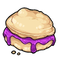 Biscuit with Grape Jelly