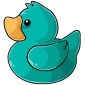 Turquoise Ducky