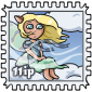 Wind Fairy Stamp