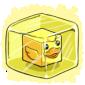 Cubed Ducky Ice Cube
