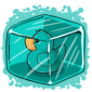 Turquoise Ducky Ice Cube