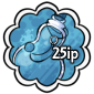 Blue Snow Jar Stamp