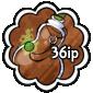 Brown Snow Jar Stamp