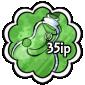 Green Snow Jar Stamp