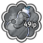 Grey Snow Jar Stamp