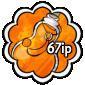 Orange Snow Jar Stamp