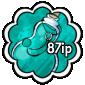 Turquoise Snow Jar Stamp