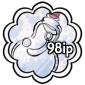 White Snow Jar Stamp