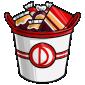 Team Red Dovu Candy Bucket