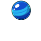 Blue Bouncy Ball