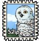 Snow Owl Stamp